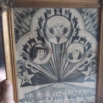 Jimi hendrix poster - Music Memorabilia