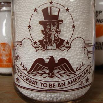 ST. LAWRENCE QUALITY PRODUCTS...READING MASSACHUSETTS...CREAM TOP WAR SLOGAN MILK BOTTLE - Bottles