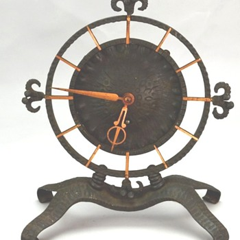 Iron Shelf Clock - Primitive Handmade