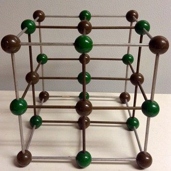 Mid Century Metaloglass, Inc. Sculptural Molecular Model of Sodium Chloride - Mid-Century Modern