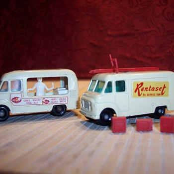 Matchbox ice cream truck and tv repair truck - Model Cars