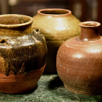Arrangement of Old Chinese Food Storage Vessels - Asian