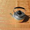 Aluminum & Bakelite teapot
