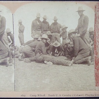 """10th CAV """"Buffalo Soldiers"""" playing craps - Military and Wartime"""