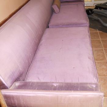 Purple silk couch - Furniture