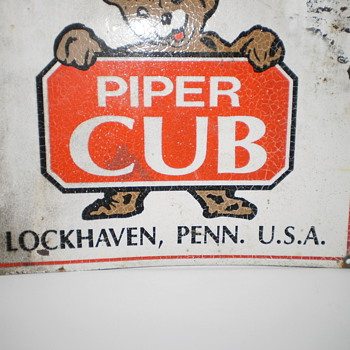 Piper Cub Aircraft Sign