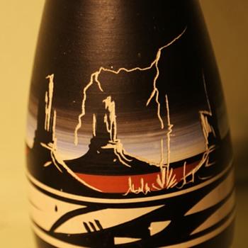 Southwest - Modern Vase by Ronda Navajo