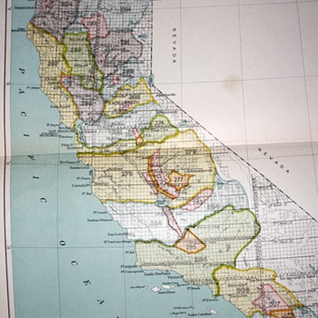 1899 - Bureau of American Ethnology - California Map Showing Native Territories Pre-Settlement - 1898 - Paper