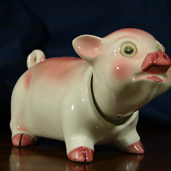 FABULOUS NODDER VINTAGE PIGGY BANK...LOOKING FOR INFO! - Coin Operated