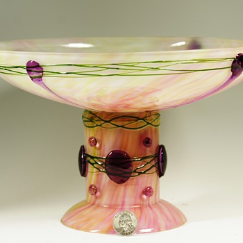 Rare Benedikt von Poschinger Compote designed by Georg Carl von Reichenbach - Art Glass