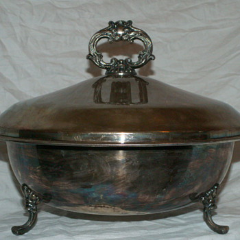Antique Large F.B. Rogers Silver Co. Serving Dish 1045 - Kitchen