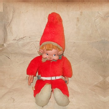 Rushton Elf Doll Circa 1950s 1960s - Christmas