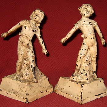"1930 Everstyle ""Boy and Girl"" Bookends - Books"