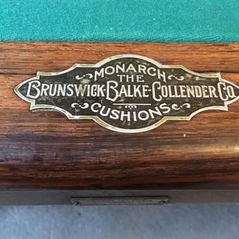 (Almost) Antique Brunswick, Balke & Collander Carom/Billiard Table - Games