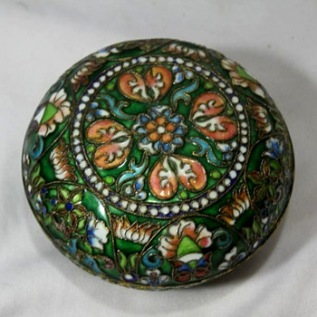 Another small cloisonne box, this one is a bit of a mystery.... - Asian