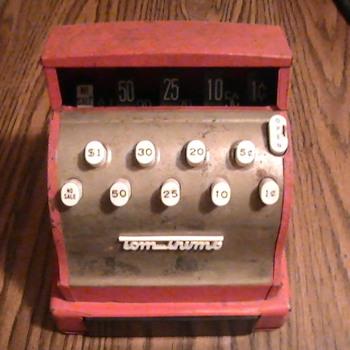 Tom Thumb toy cash register.
