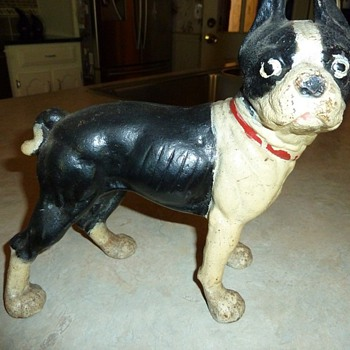 Is this Cast Iron dog Hubley or a repo ? Door stop ? - Animals