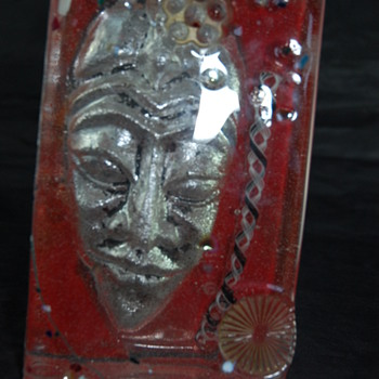 """Susan Gott """"Spirit Block"""" Phoenix Glass - Art Glass"""