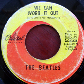 "The Beatles ""We Can Work it Out"" b/w ""Day Tripper"" 45rpm - Records"
