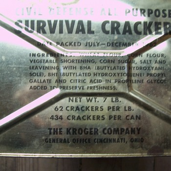 COLD WAR SURVIVAL CRACKERS-UNOPENED TIN