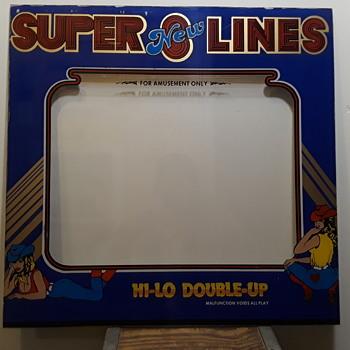 """NEW SUPER 8 LINES"" arcade machine bezel  - Games"
