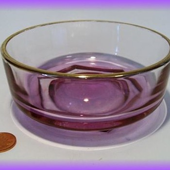 Unknown Small Mauve Iridescent Bowl