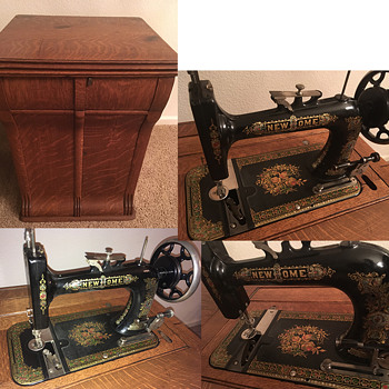 New Home Vintage Parlor Cabinet Sewing Machine