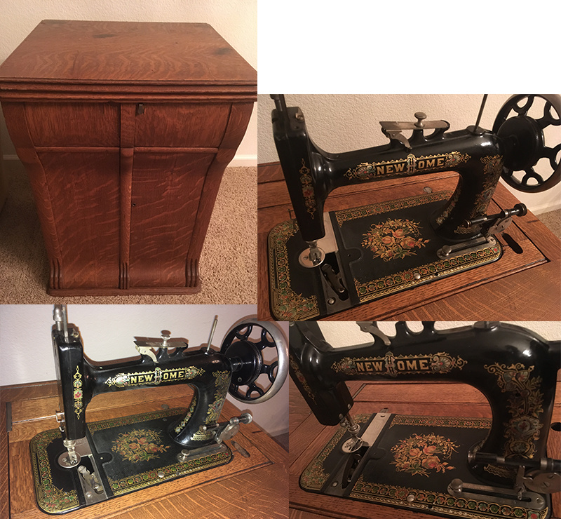 New Home Vintage Parlor Cabinet Sewing Machine Collectors Weekly Stunning Antique New Home Treadle Sewing Machine Value