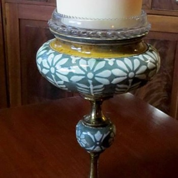 Doulton & Slaters/Lambeth fairy lamp stand - Pottery