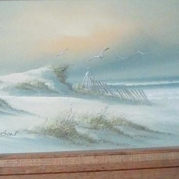 Beach Dunes by Adamson oil on canvas - Fine Art