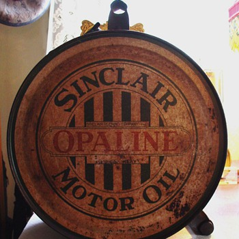 Sinclair Opaline Motor Oil...5 Gallon Oil Rocker Can...1920's - Petroliana
