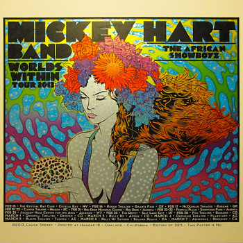 Chuck Sperry poster for Mickey Hart Band - Posters and Prints