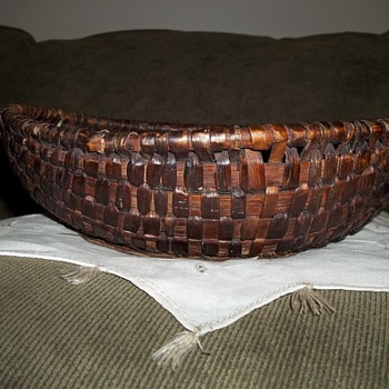 1870's Old Buttock Basket  - Folk Art