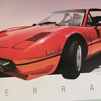 "Found this Print  ""Ferrari""  by Peter J. Heer Unknow Year - Posters and Prints"