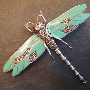Sterling dragonfly brooch  - Fine Jewelry