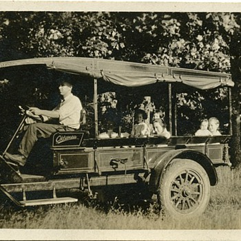 Antique Photograph Oldsmobile Family Truckster   - Photographs