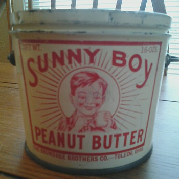 Sunny Boy Peanut Butter Tin - Advertising
