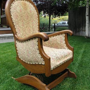 Platform or spring rocking chair - Furniture