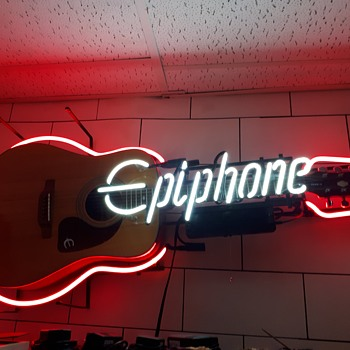 Vintage Epiphone neon sign - Signs
