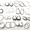 Here is a post for the vintage jewelry browsers and shoppers, my new lot of 17 pairs sterling silver hoop earrings.