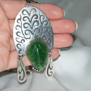 Mexico Sterling Silver Vintage Pendant - Fine Jewelry
