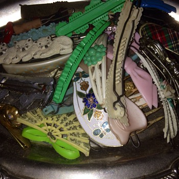 My Vintage Hair Barrettes :) - Accessories