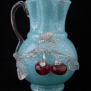 J.B. Graesser circa 1900 Blumengarnitur Elise Applied Glass Vase