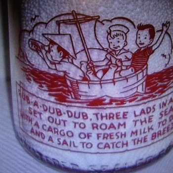 Quart Breezemont Dairy...Brookville Pennsylvania Rhyme Milk Bottle.......... - Bottles