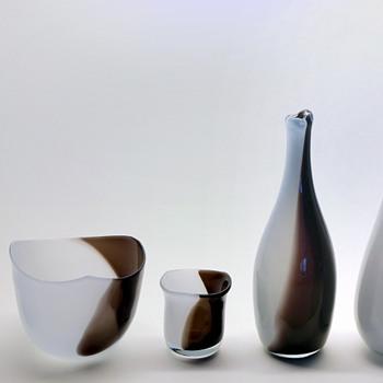 More Chimaros by Gunnar Nylund - Strömbergshyttan. - Art Glass
