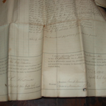 1864  Civil war document Muster out Camp Dennison - Paper