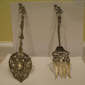 Italian decorative fork and spoon - Kitchen