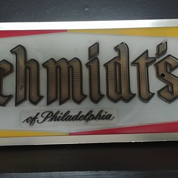 Schmidt's lighted beer sign - Signs