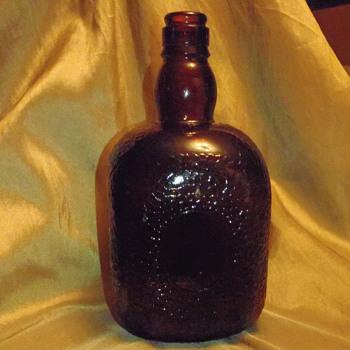 Amber Embossed Bottle - Bottles