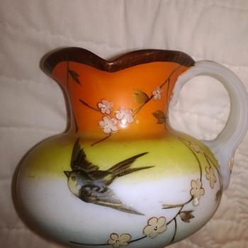 Cream Pitcher & Vase - Art Glass